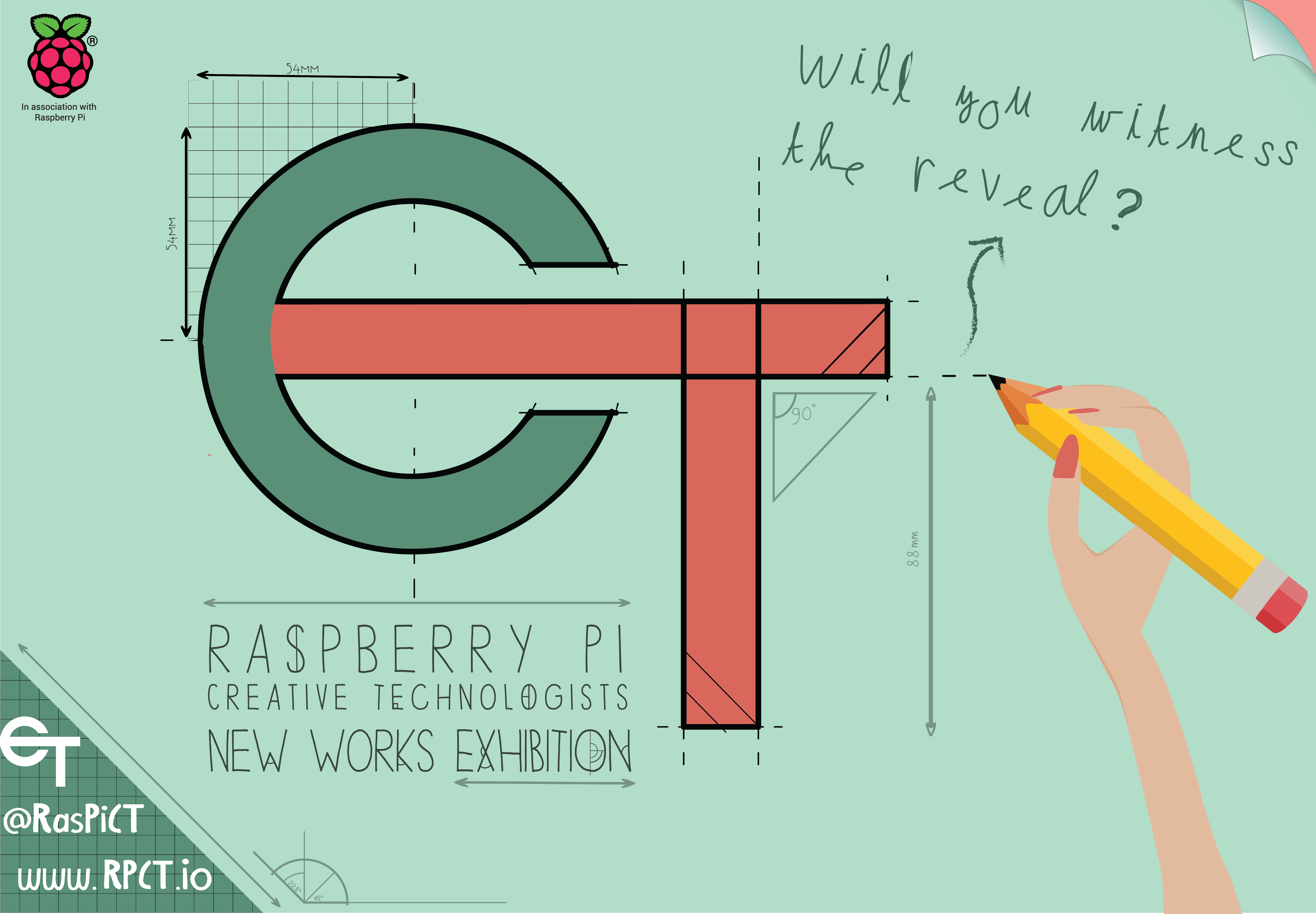 Raspberry Pi Creative Technologists New Works Exhbition poster