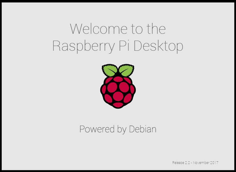 Raspberry Pi Desktop splash screen