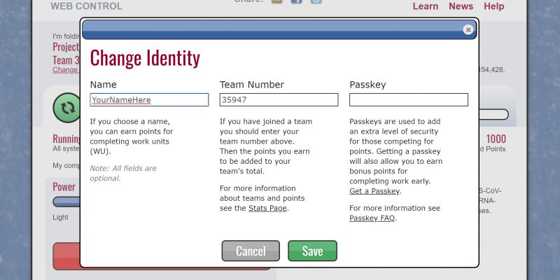 Set your username and team number